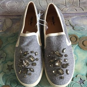 NWT's Slip On Sneakers with Jewels